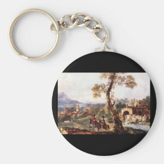 Horsemen in the Country', Francesco_Landscapes Keychain