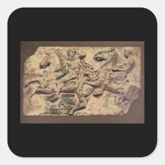 Horsemen in the Panatheaic Procession_Art of Antiq Square Sticker