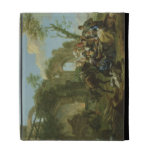 Horsemen Resting among Classical Ruins with a Fort iPad Folio Covers