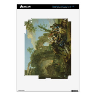 Horsemen Resting among Classical Ruins with a Fort Decal For iPad 3