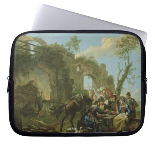 Horsemen Resting among Classical Ruins with a Fort Laptop Computer Sleeves
