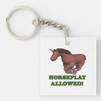 Horseplay Allowed Keychain