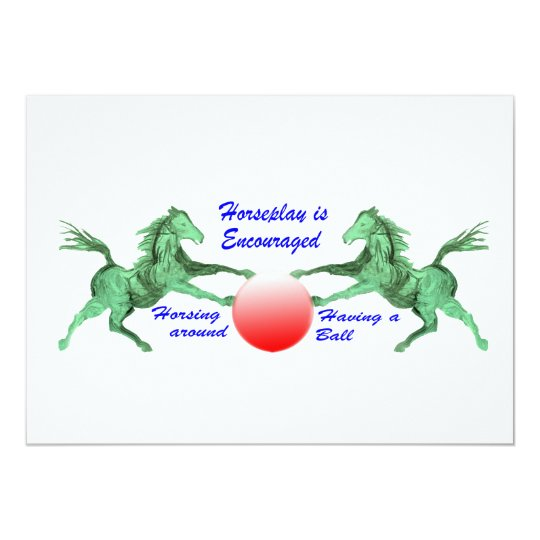 Horseplay is Encouraged Card