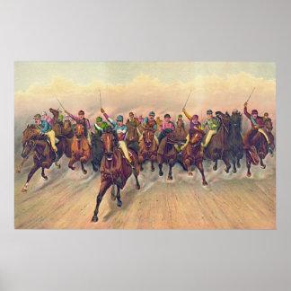 Horserace 1888 poster
