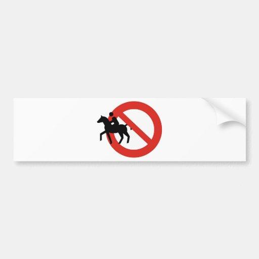 horseriding car bumper sticker