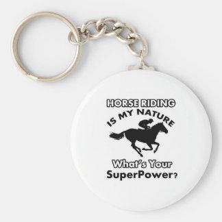 horseriding design keychains