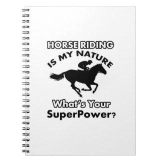 horseriding design note book