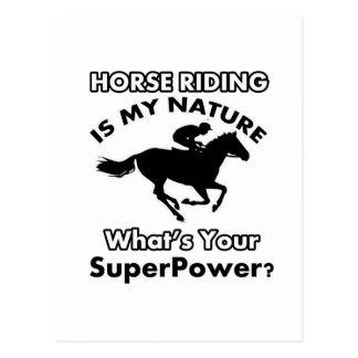 horseriding design postcard