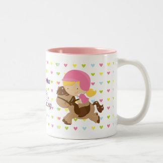 Horseriding Hearts Coffee Mug