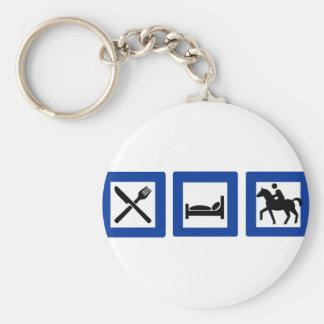horseriding keychain