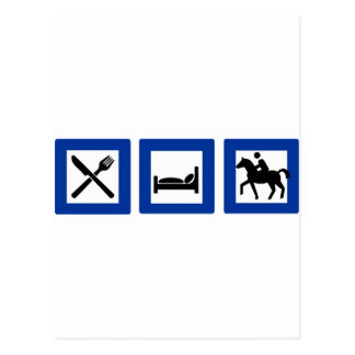 horseriding postcard
