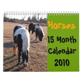 Horses15 Month Calendar 2010