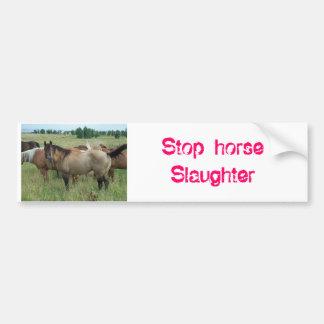 horses_015, matanza del caballo de la parada pegatina de parachoque