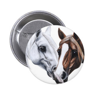 horses 2 inch round button