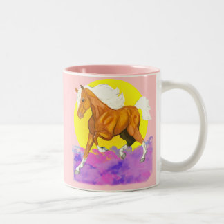 Horses - a touch of Heaven on Earth Two-Tone Coffee Mug