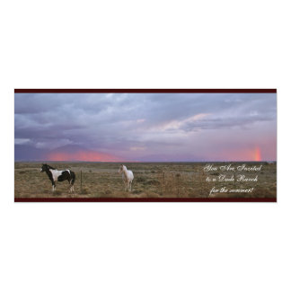 Horses after the rain 4x9.25 paper invitation card