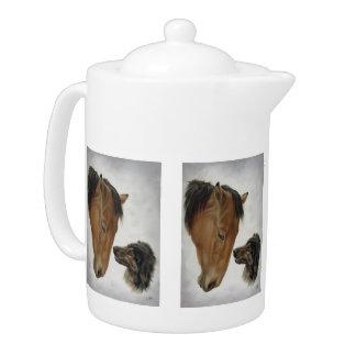 Horses and Dog Teapot