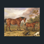 """Horses and dogs painting on canvas for decoration<br><div class=""""desc"""">A very beautiful and classical painting of horses and dogs on canvas that will be very nice as a decoration of your house and sitting rooms</div>"""