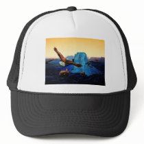 Horses and Eagles in the Grand Canyon Trucker Hat