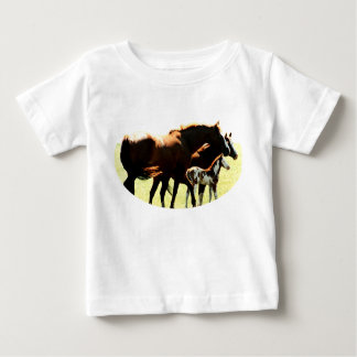 Horses and Foal Picture T Shirts