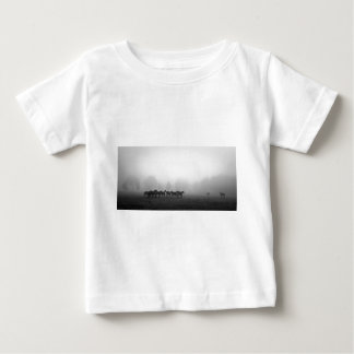 Horses and fog baby T-Shirt