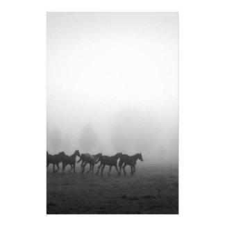 Horses and fog stationery