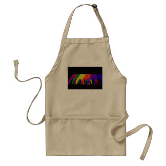 horses and horses in 6 bright colors - graphic adult apron