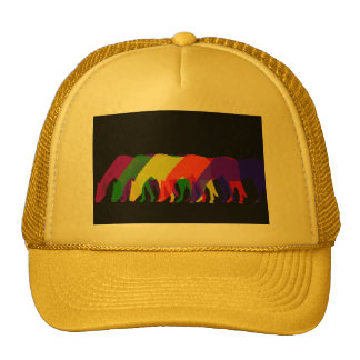 horses and horses in 6 bright colors - graphic trucker hat