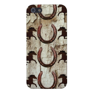 Horses and Horseshoes on Barn Wood Cowboy Gifts Case For iPhone SE/5/5s