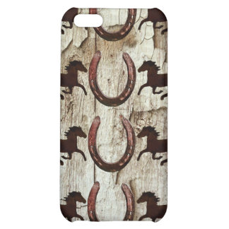 Horses and Horseshoes on Barn Wood Cowboy Gifts iPhone 5C Cover