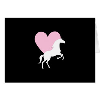Horses and Love Card
