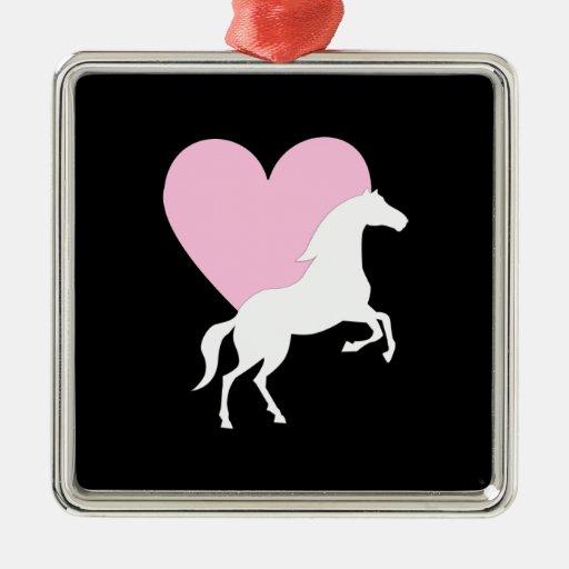 Horses and Love Christmas Tree Ornaments
