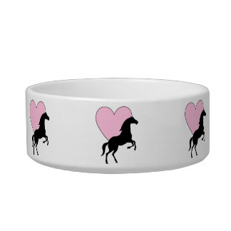 Horses and Love Pet Water Bowls
