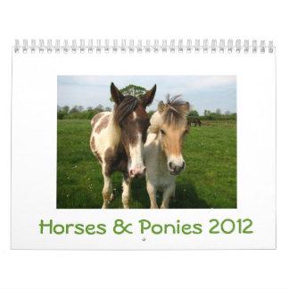 Horses and Ponies 2012 Calendar - Customizable