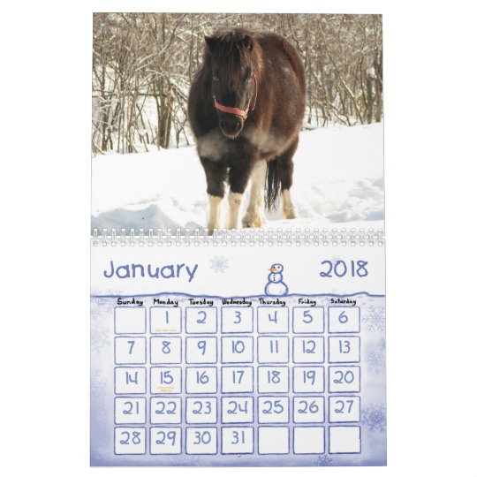 Horses and Ponies 2012 Calendar - Customizable