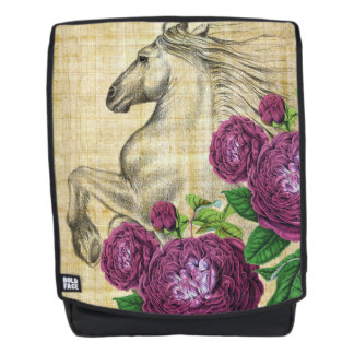 Horses And Roses Backpack