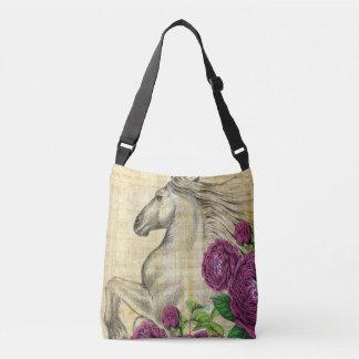 Horses And Roses Crossbody Bag