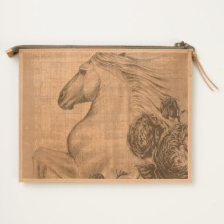 Horses And Roses Travel Pouch