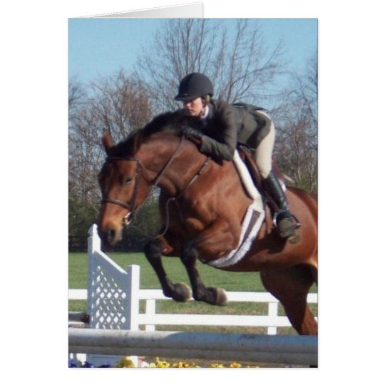 Horses and Show Jumping Greeting Card