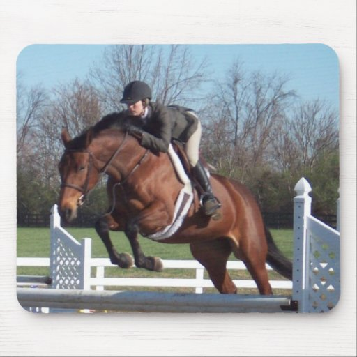 Horses and Show Jumping Mouse Pad