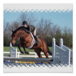 Horses and Show Jumping Poster Print