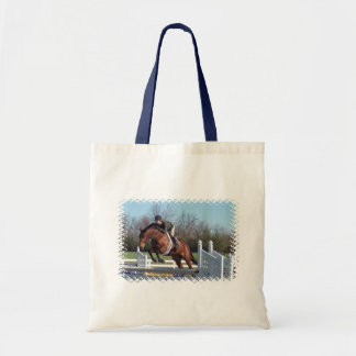 Horses and Show Jumping Small Tote Bag