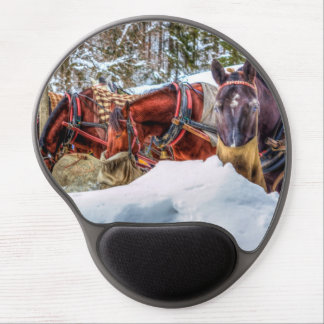 Horses and Snow Gel Mouse Mats