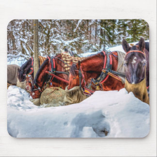 Horses and Snow Mousepad