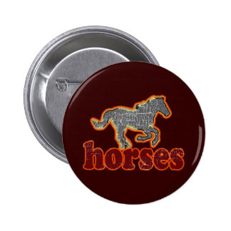 horses animal farm country style button