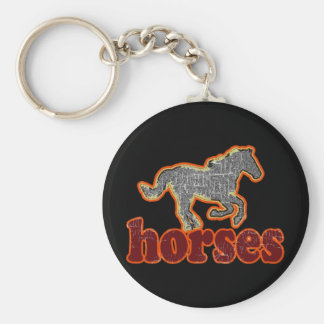 horses animal farm country style keychain