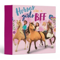 """""""Horses Are A Girls BFF"""" Friends Watercolor Art 3 Ring Binder"""
