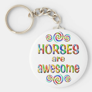 HORSES ARE AWESOME KEY CHAIN