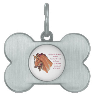Horses Are Awesome Pet Tag