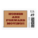 HORSES ARE FORWARD MOVING!! POSTAGE STAMPS